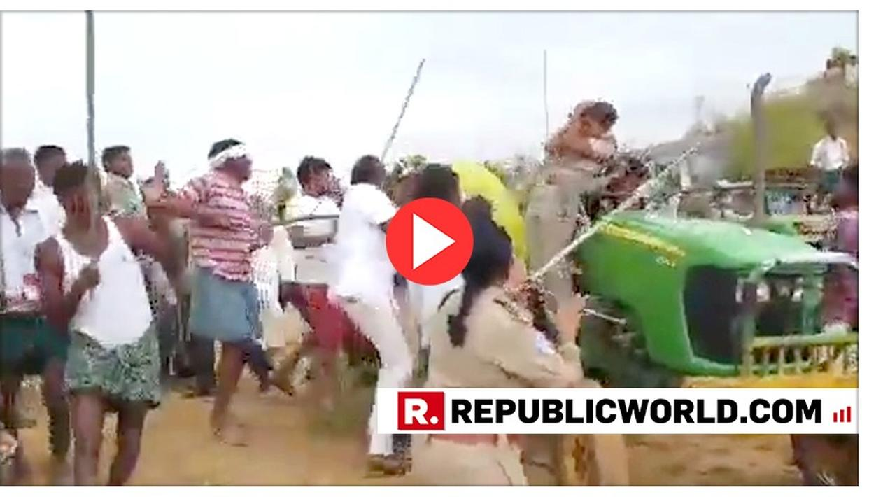 SHOCKING: LADY FOREST OFFICER VICIOUSLY ATTACKED BY MOB AT KALESHWARAM PROJECT SITE; TRS MLA'S BROTHER'S HAND ALLEGED