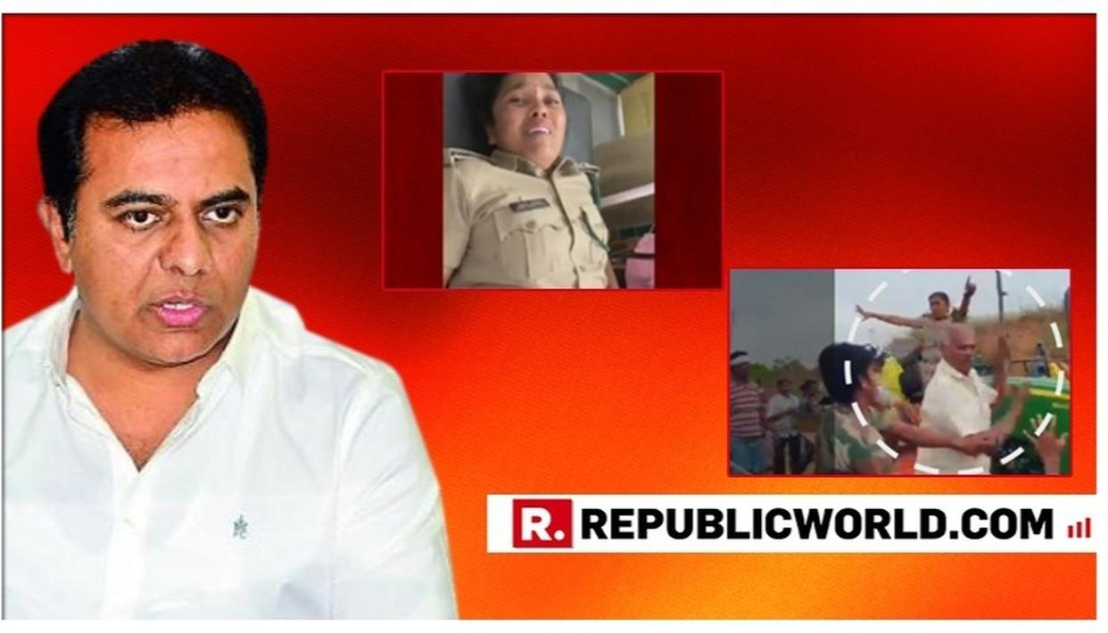 KTR TWEETS AS TELANGANA GOVT FORCED TO ACT AGAINST ITS MLA'S BROTHER AFTER ATTACK ON LADY FOREST OFFICER