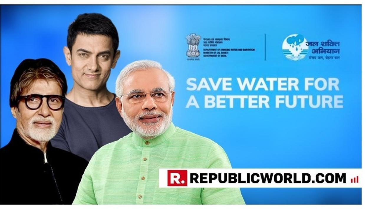 PM MODI COMMENDS 'WISE WORDS' BY JAL SHAKTI ABHIYAN'S STAR BACKERS AMITABH BACHCHAN & AAMIR KHAN, WATCH THEIR MESSAGES ON WATER CONSERVATION