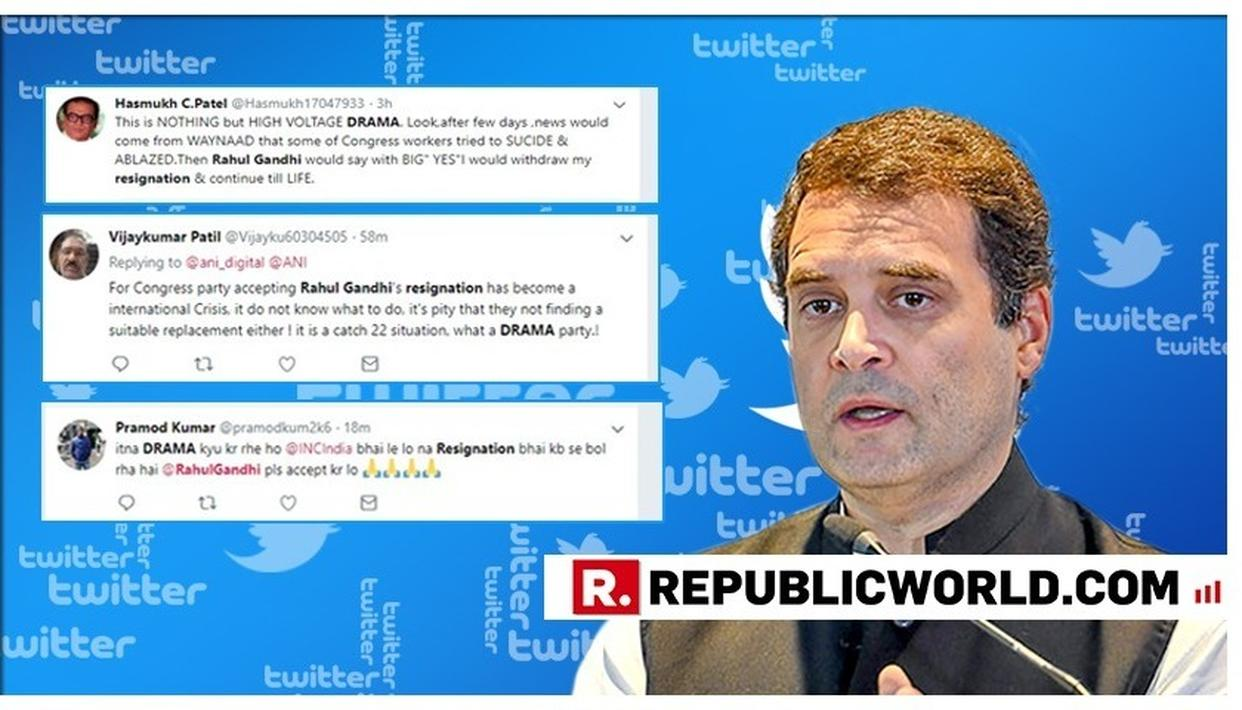 RAHUL GANDHI RESIGNS: 'NOTHING BUT HIGH VOLTAGE DRAMA,' SAY NETIZENS QUESTIONING SINCERITY OF CONGRESS PRESIDENT'S RESIGNATION