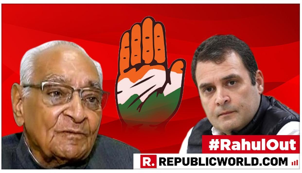RAHUL GANDHI RESIGNS: MOTILAL VORA LIKELY TO BE INTERIM CONGRESS CHIEF, KEEP GANDHI-VADRA FAMILY IN-CHARGE