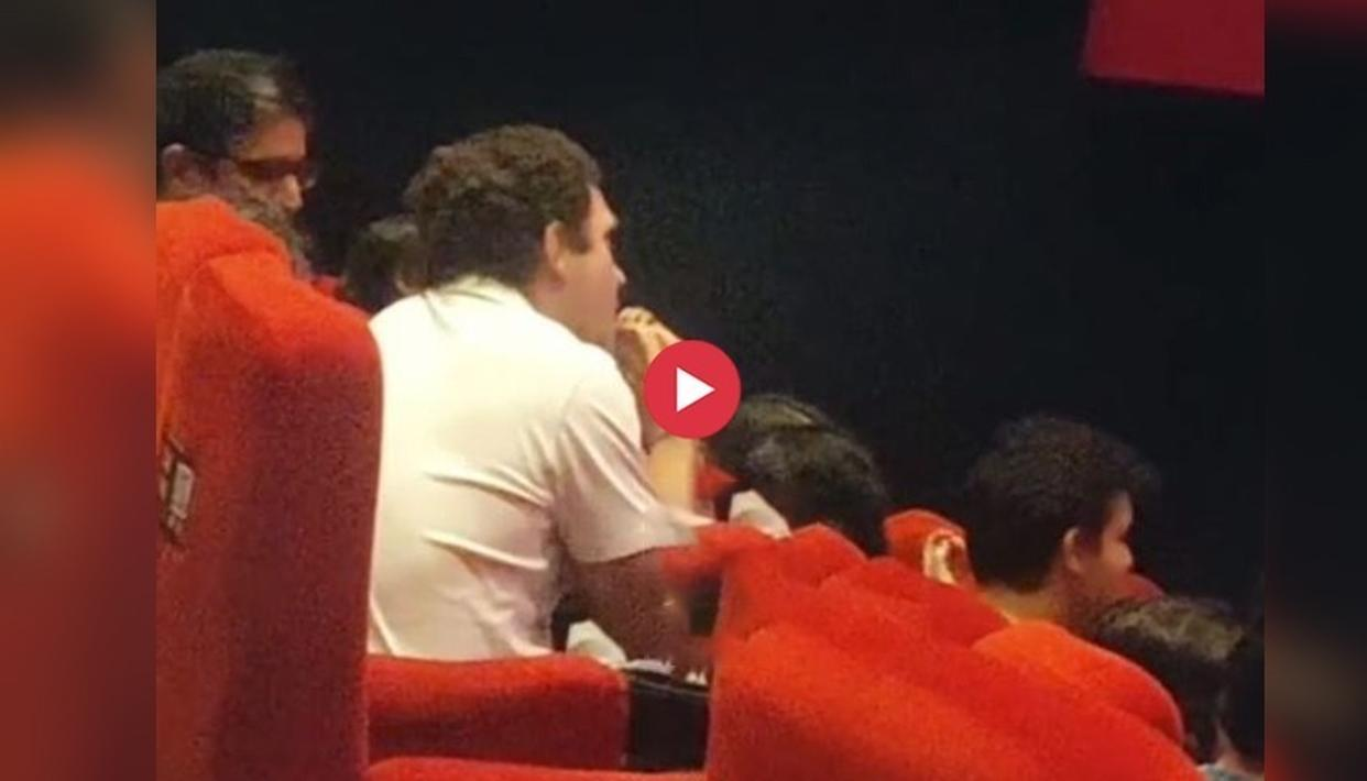 WATCH: RAHUL GANDHI WATCHES A MOVIE ON THE DAY OF HIS RESIGNATION AS CONGRESS PRESIDENT, VIDEO GOES VIRAL