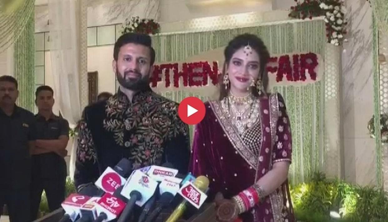 WATCH: TRINAMOOL MP NUSRAT JAHAN ADDRESSES THE MEDIA AT HER WEDDING RECEPTION, SAYS 'WILL TALK ONLY ABOUT HAPPY NEWS AND NOT HARDLINERS'