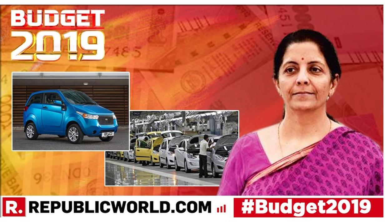 UNION BUDGET 2019: WHAT THE AUTOMOBILE INDUSTRY EXPECTS FROM THE MODI GOVERNMENT 2.0'S FIRST BUDGET