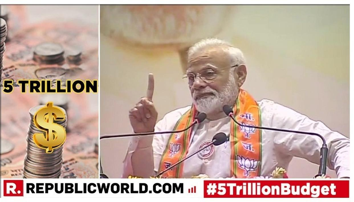 "WATCH: PM MODI COINS AND EXPLAINS ""PROFESSIONAL PESSIMISTS"" TO SLAM OPPOSITION OVER INDIA'S $5 TRILLION ECONOMY TARGET"