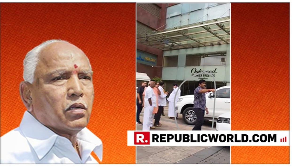 KARNATAKA CRISIS: AFTER PHOTO OF YEDDYURAPPA'S AIDE WITH REBEL JD(S) LEADERS EMERGES, BJP LEADER SAYS PARTY HAS NO ROLE IN RESIGNATIONS