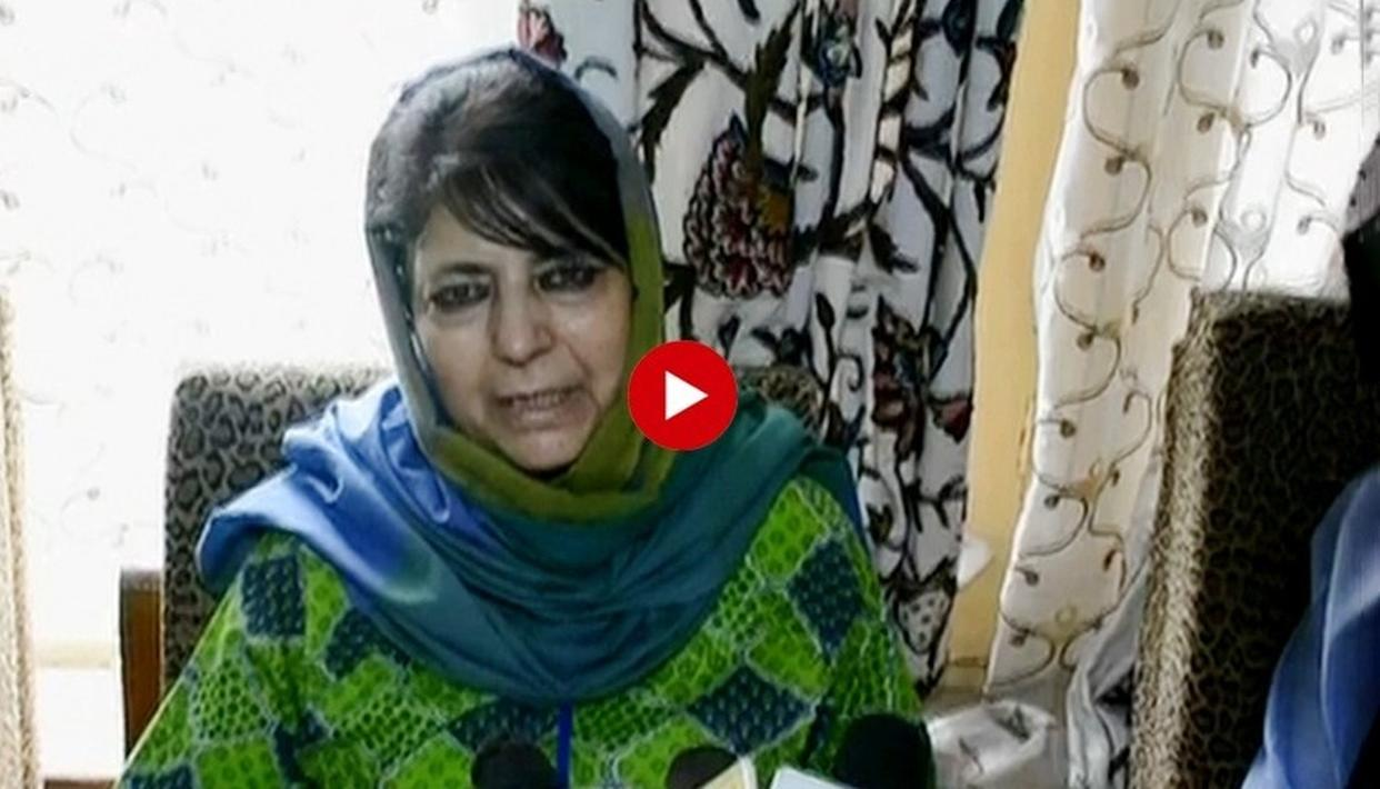 WATCH: MEHBOOBA MUFTI BATS FOR TALKS WITH HURRIYAT AGAIN, SAYS 'CENTRAL GOVT SHOULD USE THIS OPPORTUNITY'