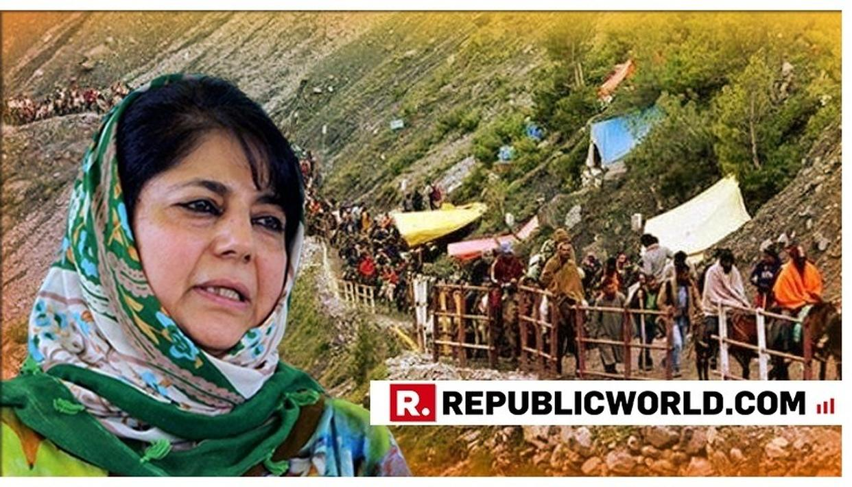 MEHBOOBA MUFTI LASHES OUT AT CENTRAL GOVT OVER AMARNATH YATRA, SAYS 'THIS YEAR'S ARRANGEMENTS ARE AGAINST KASHMIRIS'