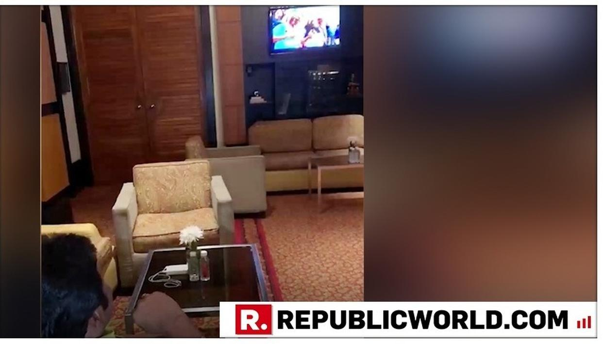 WATCH: WHILE KARNATAKA IS GOVERNMENT-LESS, CONGRESS REBEL MLA BC PATIL WATCHES INDIA-NEW ZEALAND WORLD CUP SEMIFINAL