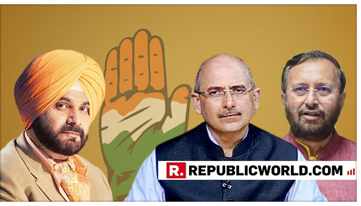 "BJP SLAMS CONGRESS FOR BLAMING THE PARTY FOR RESIGNATIONS, SAYS, ""NAVJOT SINGH SIDHU MADE MANY CONTROVERSIAL STATEMENTS LAST YEAR"""