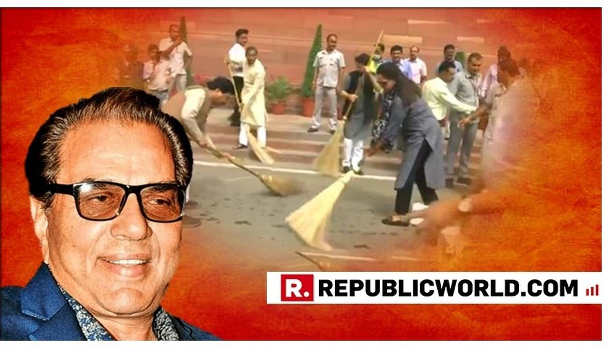 'HAS HEMA MALINI EVER PICKED UP A BROOM IN HER LIFE?': HERE'S DHARMENDRA'S RESPONSE TO A FAN AFTER PARLIAMENT SWEEPING DRIVE