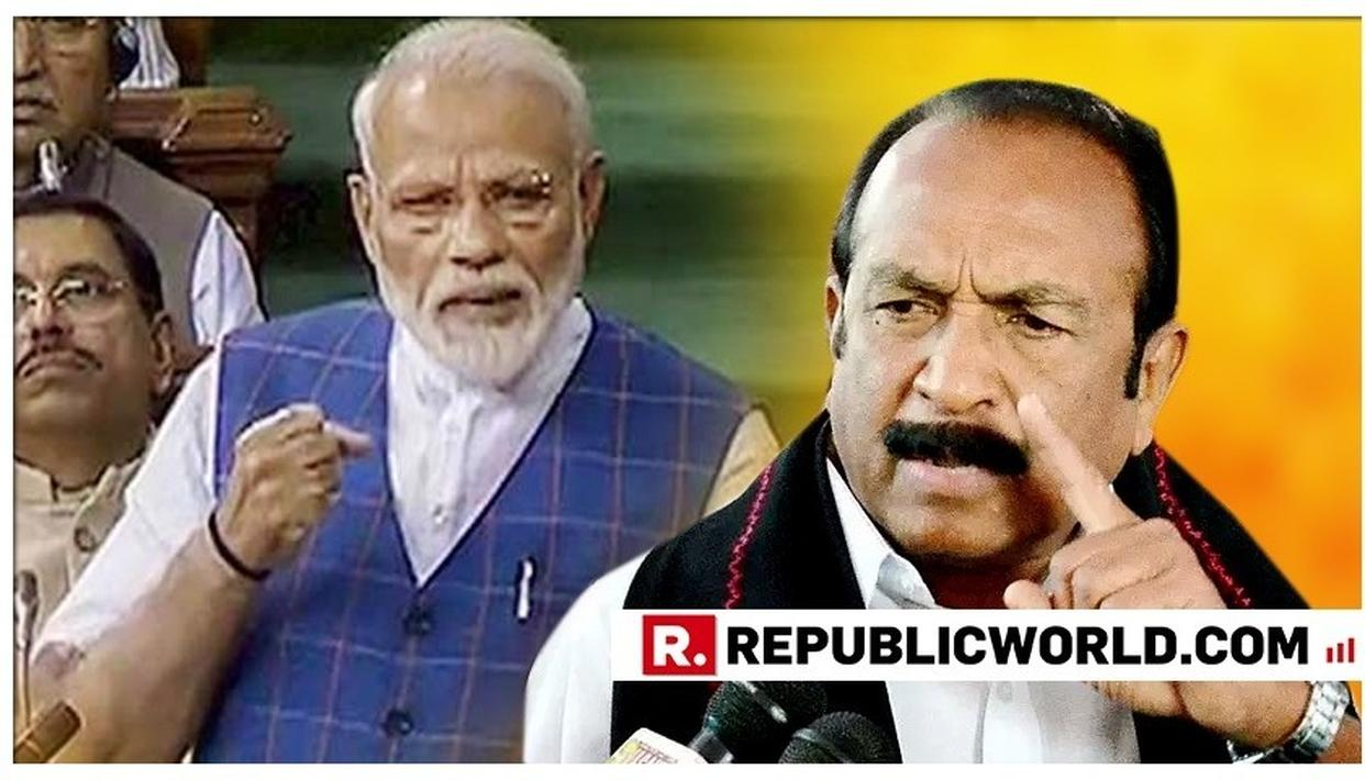 MDMK CHIEF VAIKO TRIGGERS LANGUAGE DEBATE, SAYS USE OF HINDI BROUGHT DOWN STANDARD OF DEBATE IN PARLIAMENT