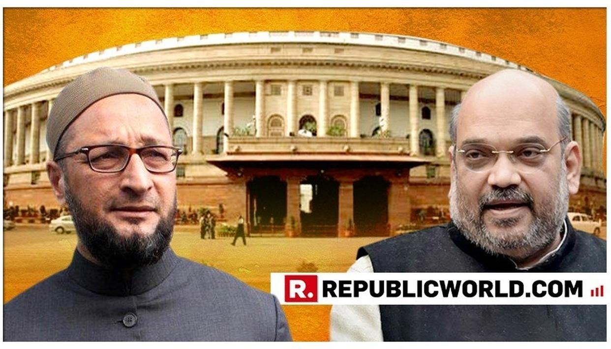 "WATCH: ""SUNNE KI BHI AADAT DALIYE OWAISI SAHAB"", SAYS AMIT SHAH AFTER ASADUDDIN OWAISI DISRUPTS BJP MP'S SPEECH ON NIA BILL IN LOK SABHA"