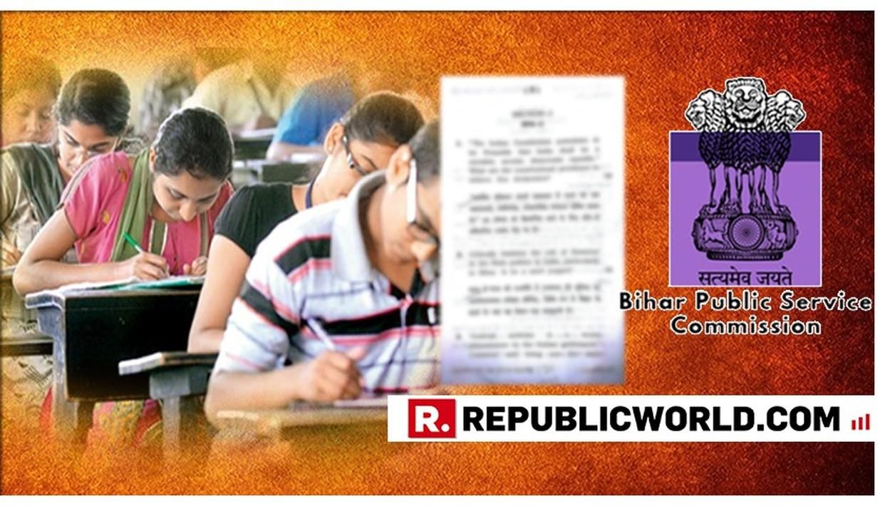 CONTROVERSIAL: BIHAR PUBLIC SERVICE COMMISSION ASKS 'IS GOVERNOR A MERE PUPPET?' IN EXAM PAPER, FURORE ERUPTS ACROSS PARTY LINES