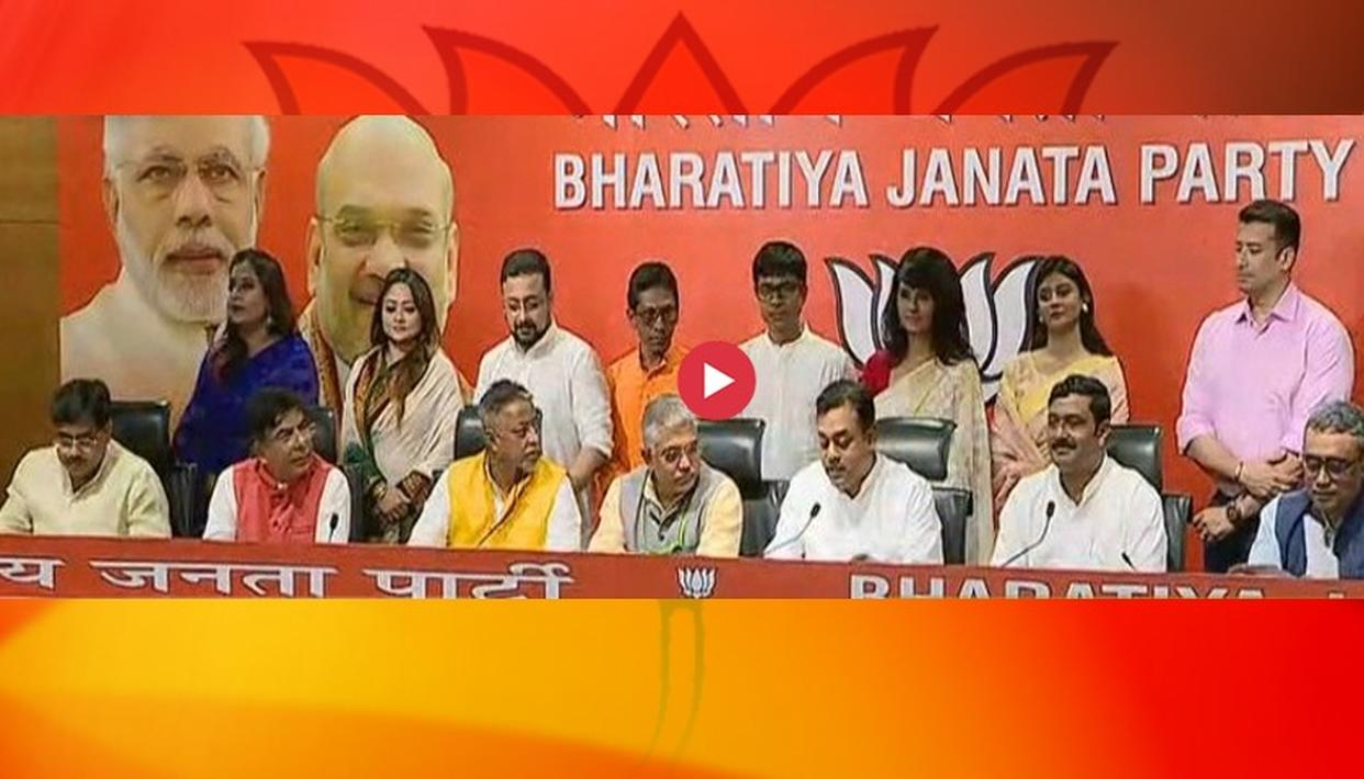 BIG COUP: TEN BENGALI MOVIE STARS JOIN BJP IN PRESENCE OF TOP PARTY LEADERS SAMBIT PATRA, MUKUL ROY AND DILIP GHOSH