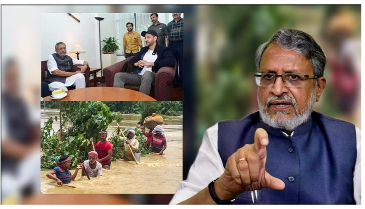 "BIHAR FLOODS: DY CM SUSHIL MODI BRAZENS OUT 'SUPER 30' OUTING, SAYS, ""IF I HADN'T WATCHED, IT WOULD'VE BEEN UNJUST TO THE FILM, BIHAR & ACTORS"""