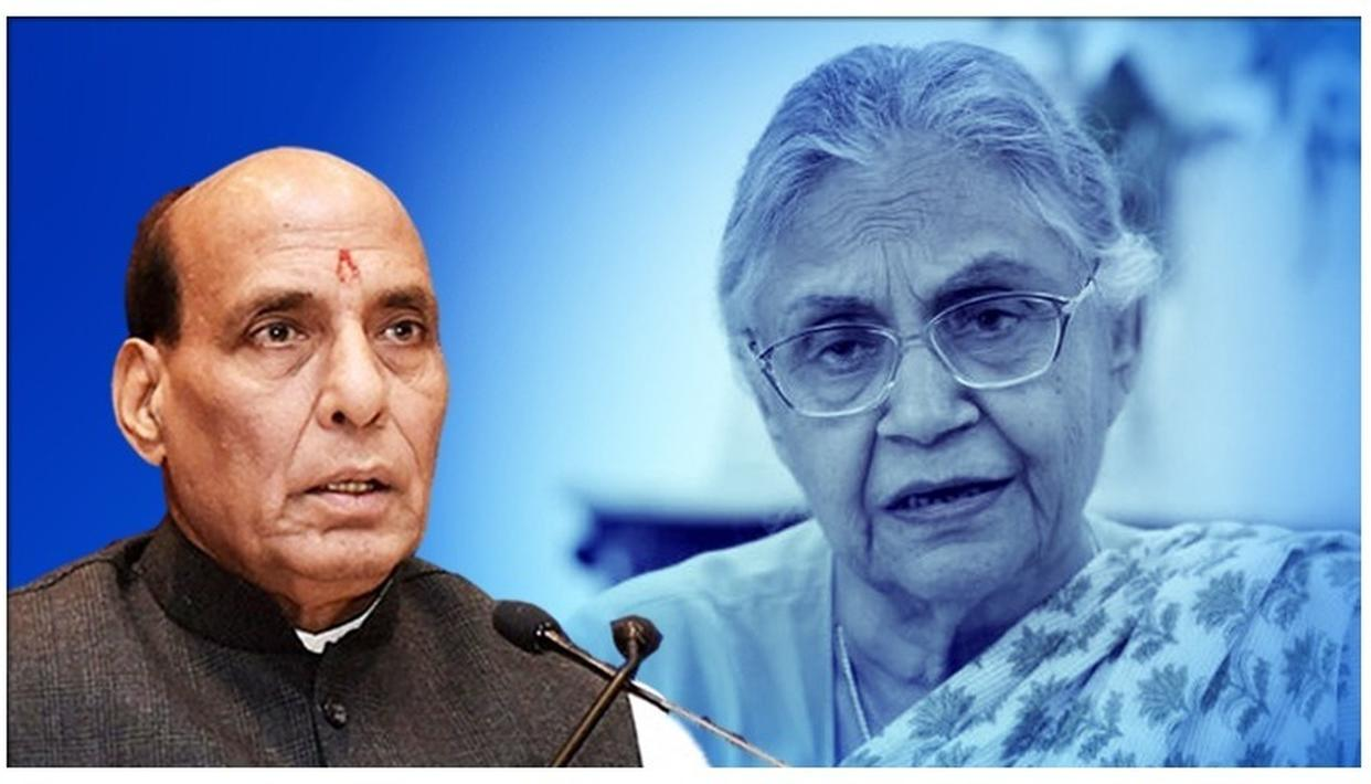 DEFENCE MINISTER RAJNATH SINGH EXPRESSES HIS SORROW ON 'TALL LEADER' SHEILA DIKSHIT'S DEMISE, SAYS, 'SHE WAS RESPECTED ACROSS PARTY LINES'