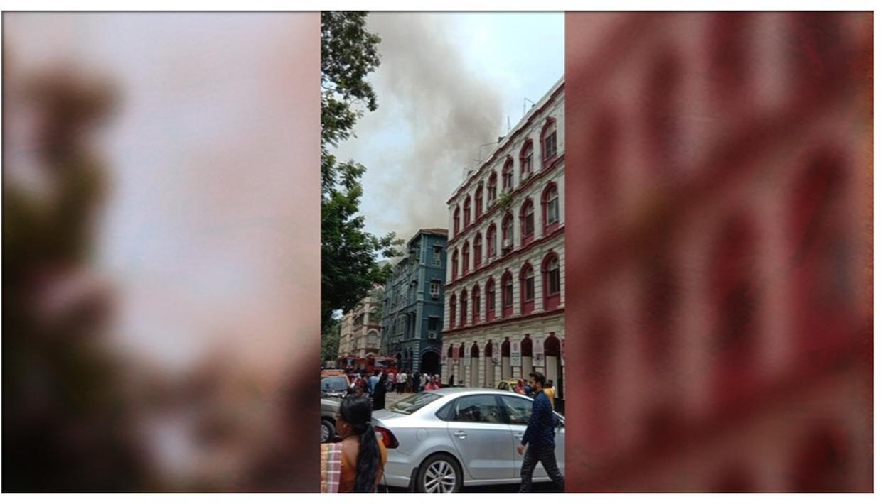 LEVEL-2 FIRE BREAKS OUT AT CHURCHILL CHAMBER IN MUMBAI'S COLABA, FIRE-FIGHTING OPERATION UNDERWAY