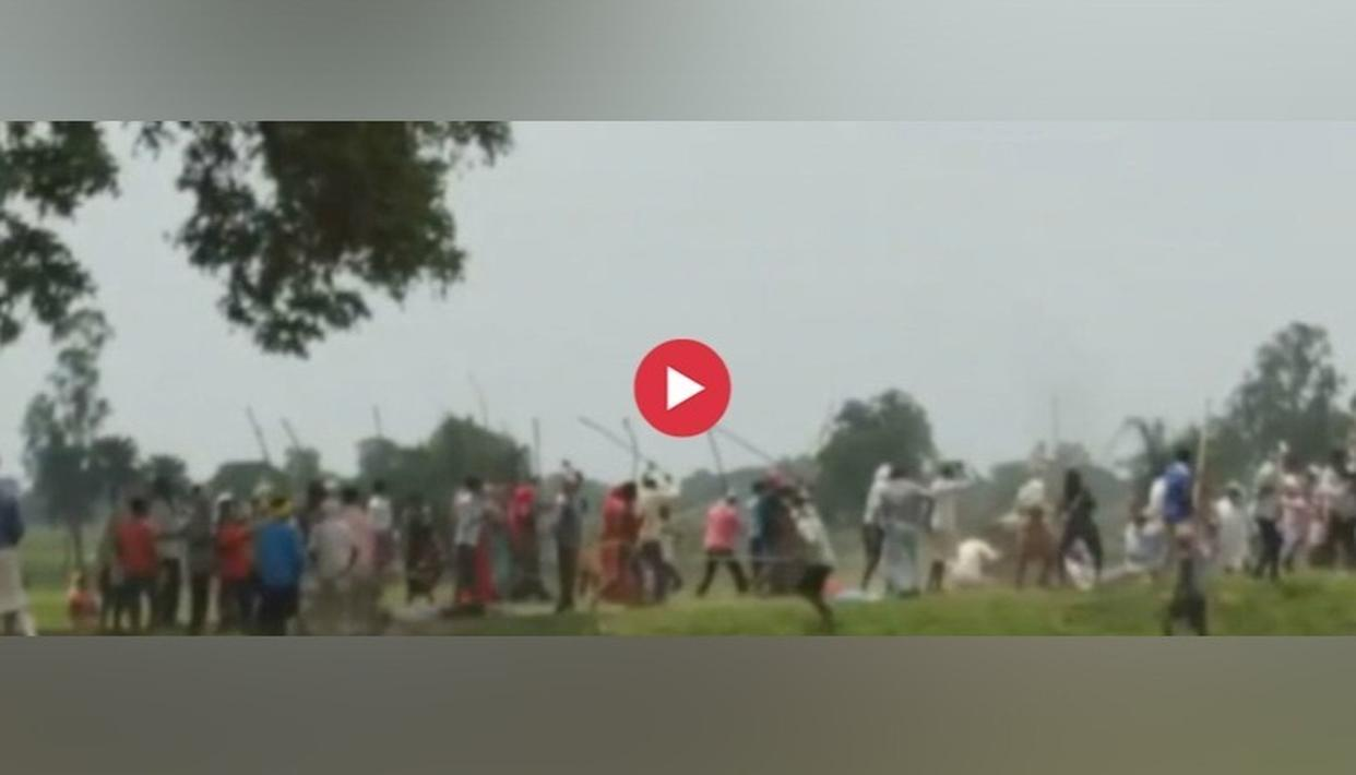 ACCESSED: SHOCKING VISUALS OF SONBHADRA INCIDENT SHOWING MEN CLASHING WITH LATHIS; GUNSHOTS HEARD