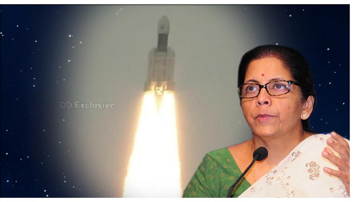 CHANDRAYAAN-2 LAUNCH | FINANCE MINISTER NIRMALA SITHARAMAN JUBILANT AS SHE CONGRATULATES ISRO FOR THE SUCCESSFUL LUNAR MISSION LAUNCH