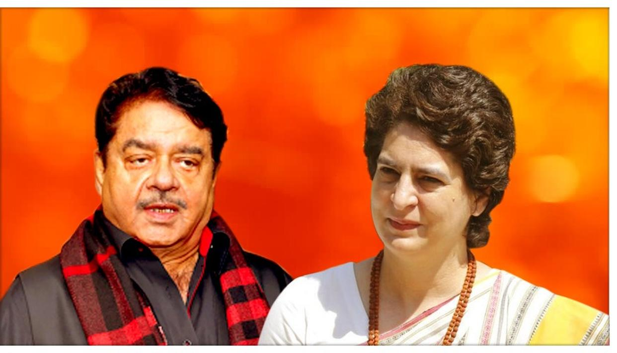 SHATRUGHAN SINHA BACKS PRIYANKA VADRA FOR CONGRESS PRESIDENT; SAYS HER SONBHADRA INCIDENT DETERMINATION REMINDS HIM OF INDIRA GANDHI