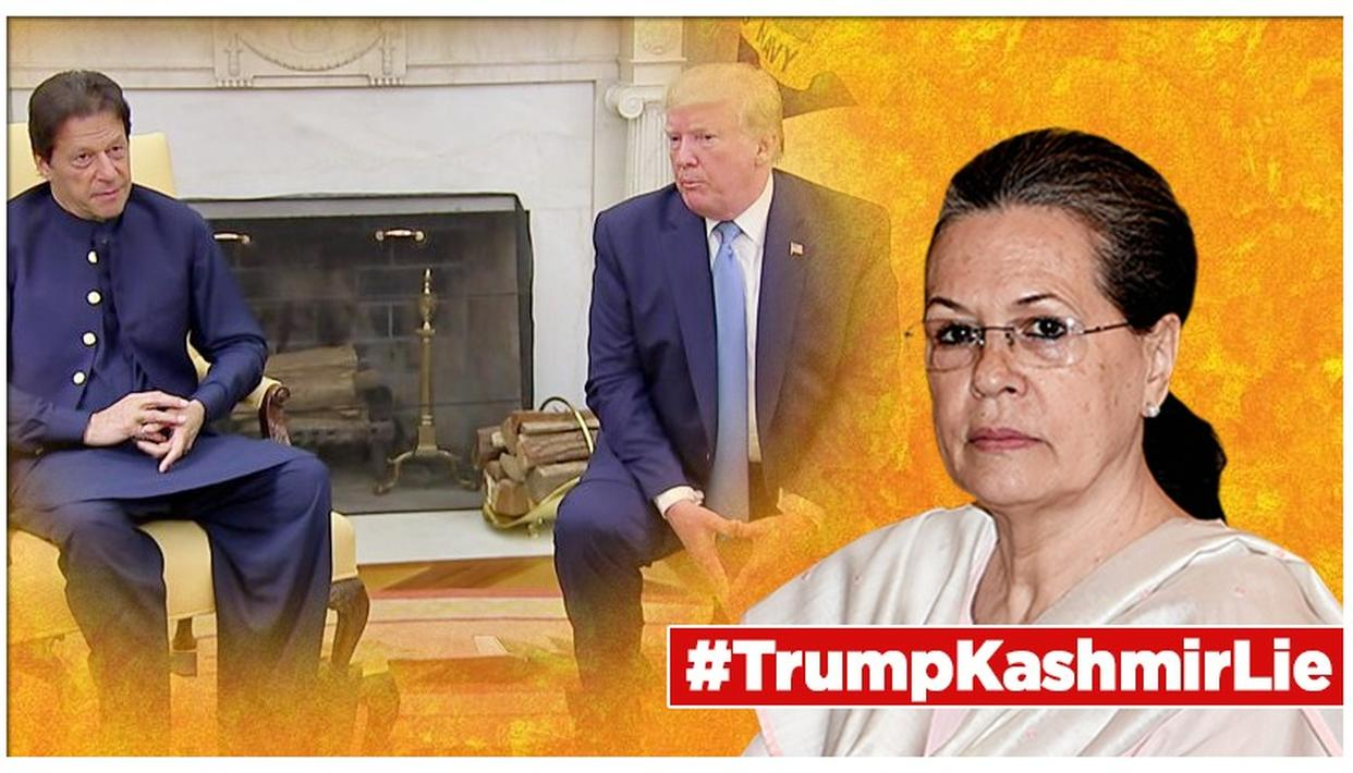 SONIA GANDHI LEADS OPPOSITION CHARGE AGAINST MODI GOVT ON DONALD TRUMP'S 'KASHMIR MEDIATION' LIE, HERE'S WHAT SHE SAID