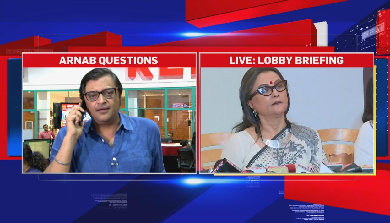 WATCH: ARNAB GOSWAMI CONFRONTS APARNA SEN AND 'INTOLERANCE' LOBBY ON LIVE TV, EXPOSES THEIR HYPOCRISY