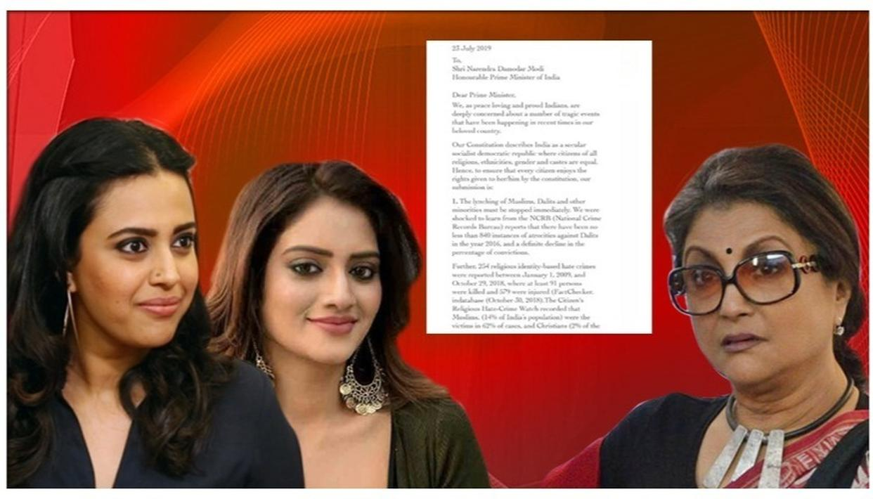 SWARA BHASKER & NUSRAT JAHAN BACK 49-CELEBRITIES 'INTOLERANCE' LETTER TO PM MODI, CALL LYNCHINGS 'EPIDEMIC'