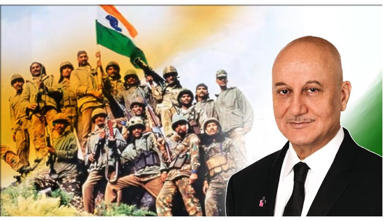 KARGIL VIJAY DIWAS: ANUPAM KHER BOWS TO INDIA'S MARTYRS, ALSO PAYS TRIBUTE TO PARENTS OF WAR HEROES
