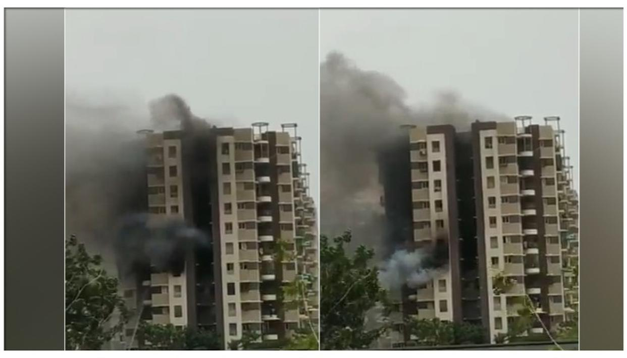 FIRE BREAKS OUT IN HIGH-RISE BUILDING IN AHMEDABAD, RESIDENTS FEARED TRAPPED: LIVE UPDATES