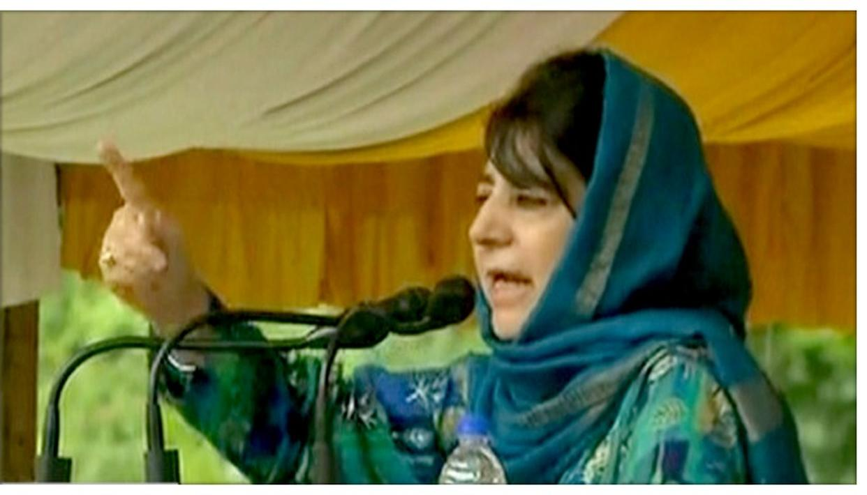 MEHBOOBA MUFTI THREATENS VIOLENCE OVER ARTICLE 35 A, SAYS 'IF THEY TOUCH IT, THEY WILL BURN TO ASHES'
