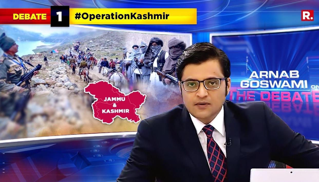 WATCH: ARNAB GOSWAMI TAKES ON ANTI-NATIONALS AFTER INDIAN ARMY FOILS PAK ARMY-BACKED TERRORISTS' PLOT TO ATTACK AMARNATH YATRIS