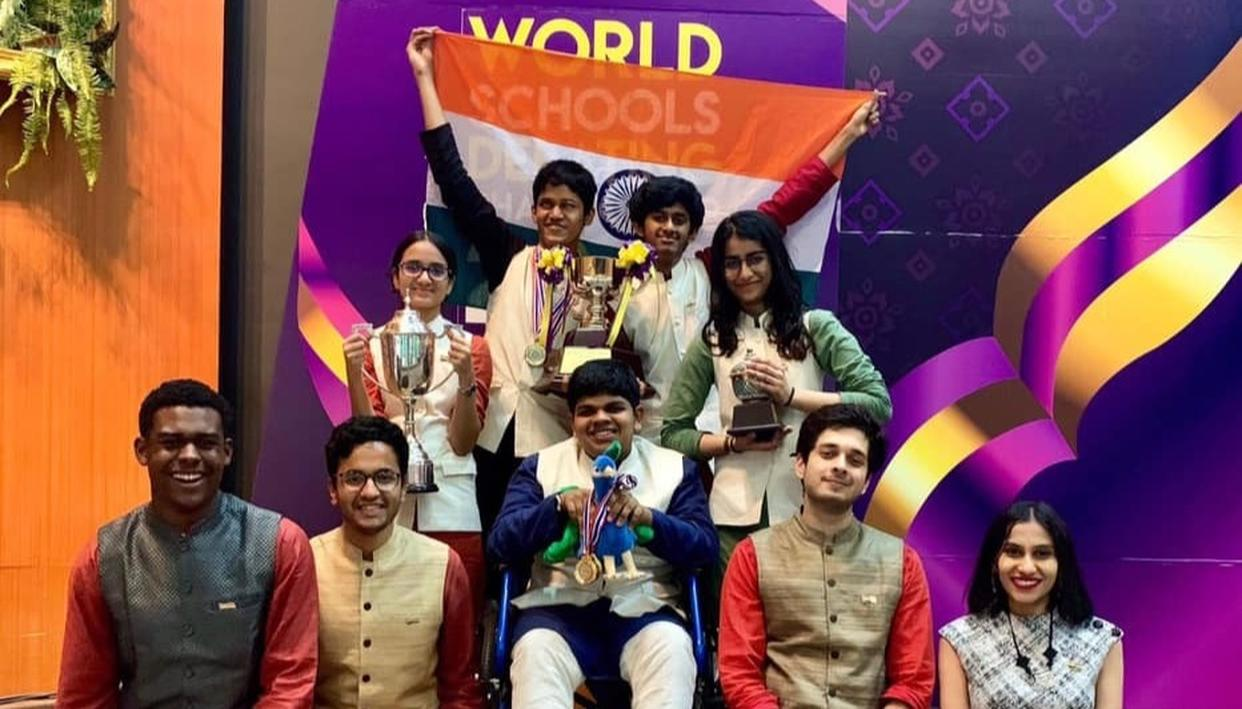 TEAM INDIA ACES AT WORLD SCHOOLS DEBATING CHAMPIONSHIP, TEJAS SUBRAMANIAM RANKED THE BEST SPEAKER IN THE WORLD