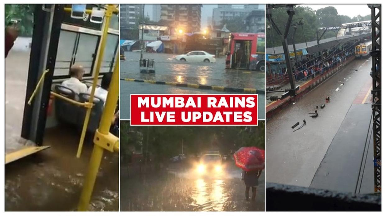 MUMBAI RAINS LIVE UPDATES: WATER-LOGGING AT SEVERAL PLACES, TRAINS DELAYED; HIGH-TIDE EXPECTED