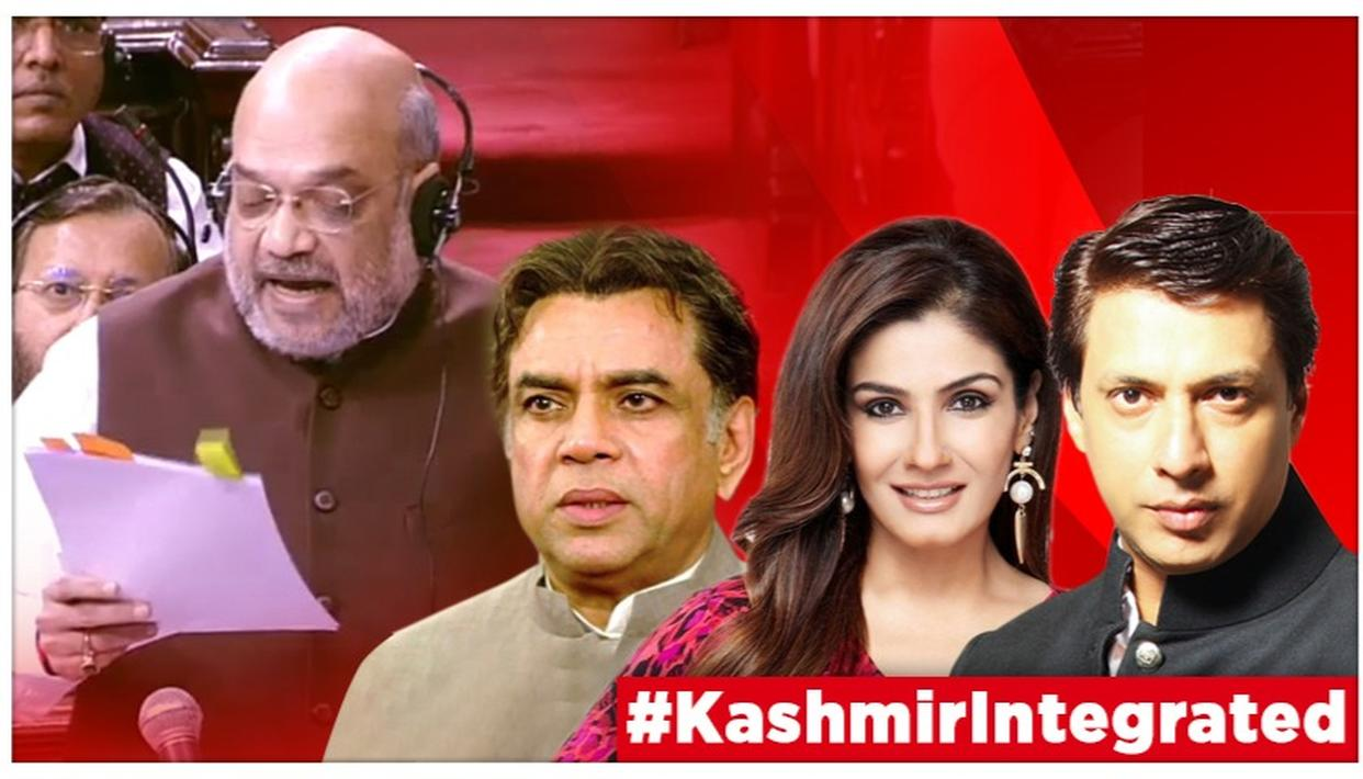 J&K: ARTICLE 370 TO BE REVOKED, RAVEENA TANDON & PARESH RAWAL HAIL MODI GOVT'S HISTORIC INTEGRATION MOVE