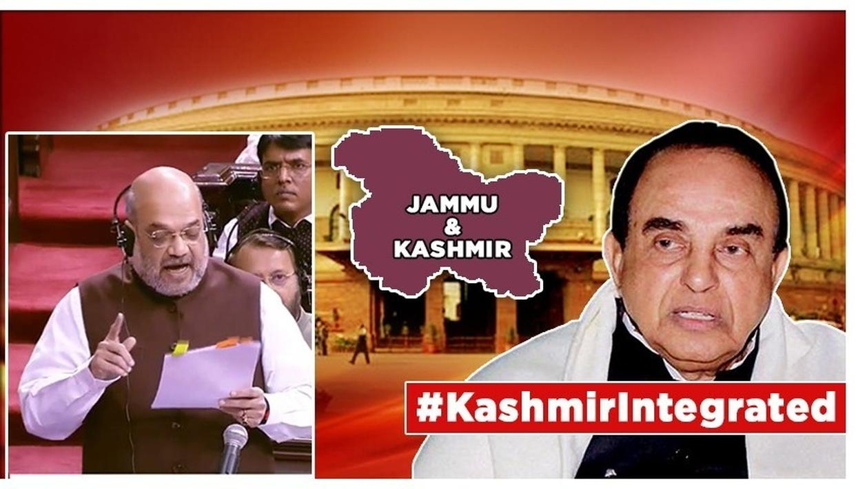J&K: ARTICLE 370 TO BE REVOKED, DR. SUBRAMANIAN SWAMY SLAMS 'VESTED INTEREST' OF DISSENTING PARTIES