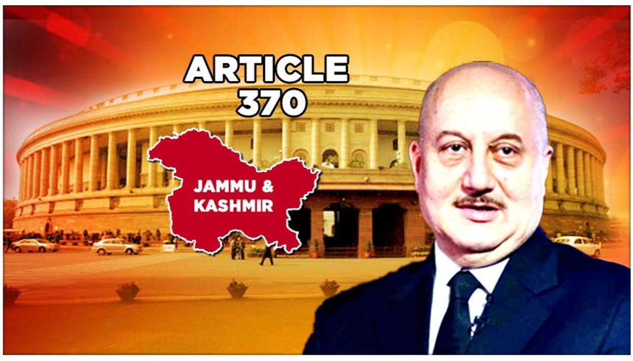 ARTICLE 370 | ANUPAM KHER CALLS J&K'S INTEGRATION 'THE FINAL PUNCH WHICH KNOCKS OUT POLITICAL OPPORTUNISTS'