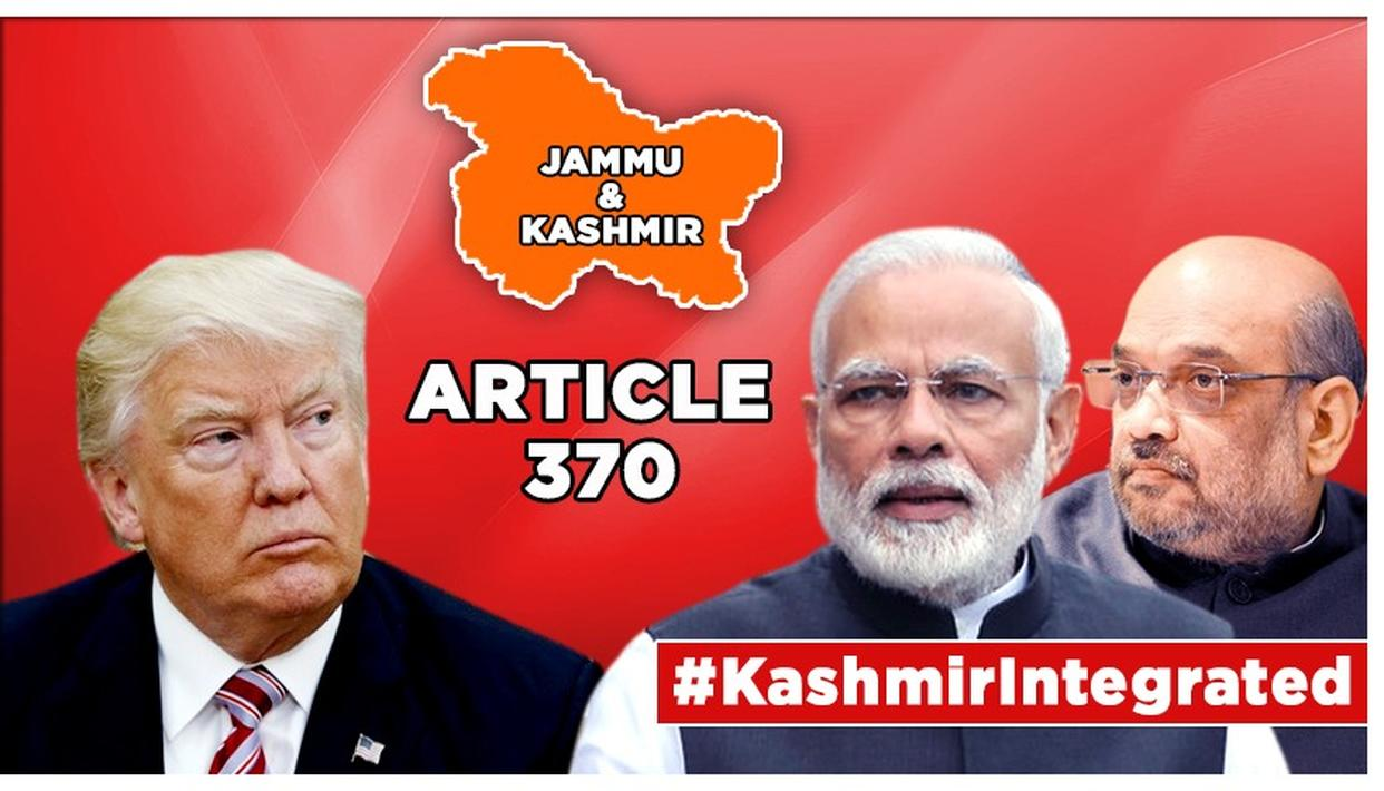 J&K'S ARTICLE 370 SCRAPPED,US DELIVERS SNUBTO DESPERATE PAKISTAN, MAKES NO MENTION OF ANY MEDIATION
