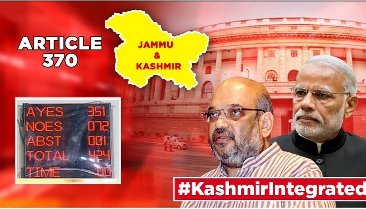 HISTORIC: LOK SABHA PASSES RESOLUTION REVOKING ARTICLE 370 IN J&K, REORGANISATION BILL WITH STUNNING MAJORITY