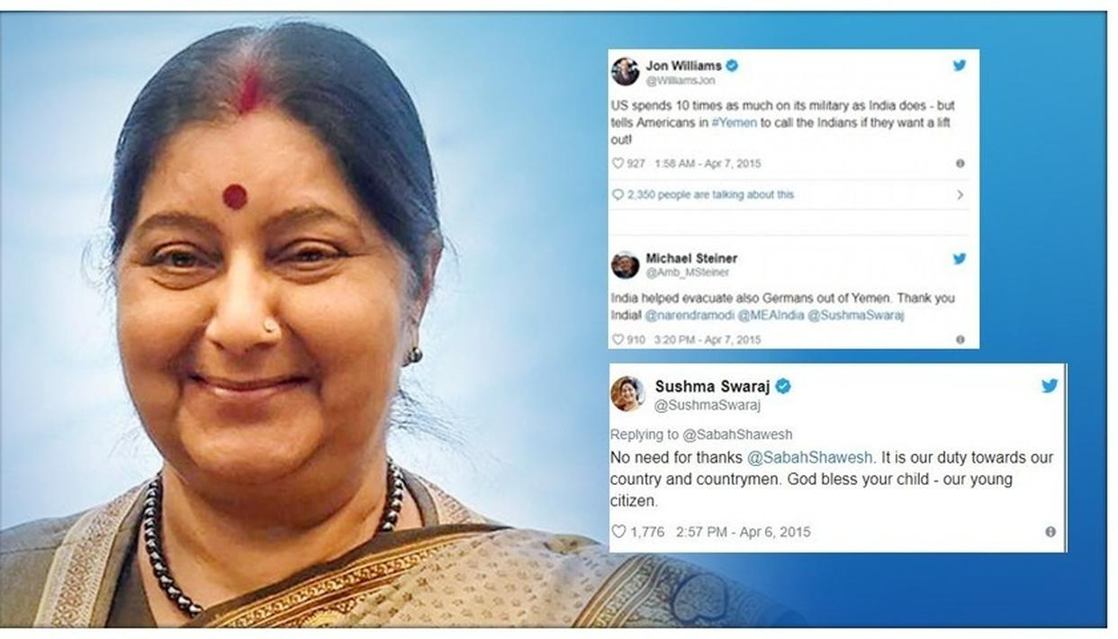 SUSHMA SWARAJ PASSES AWAY: WHEN FOREIGN CITIZENS THANKED HER FOR HER ALACRITY AS EXTERNAL AFFAIRS MINISTER
