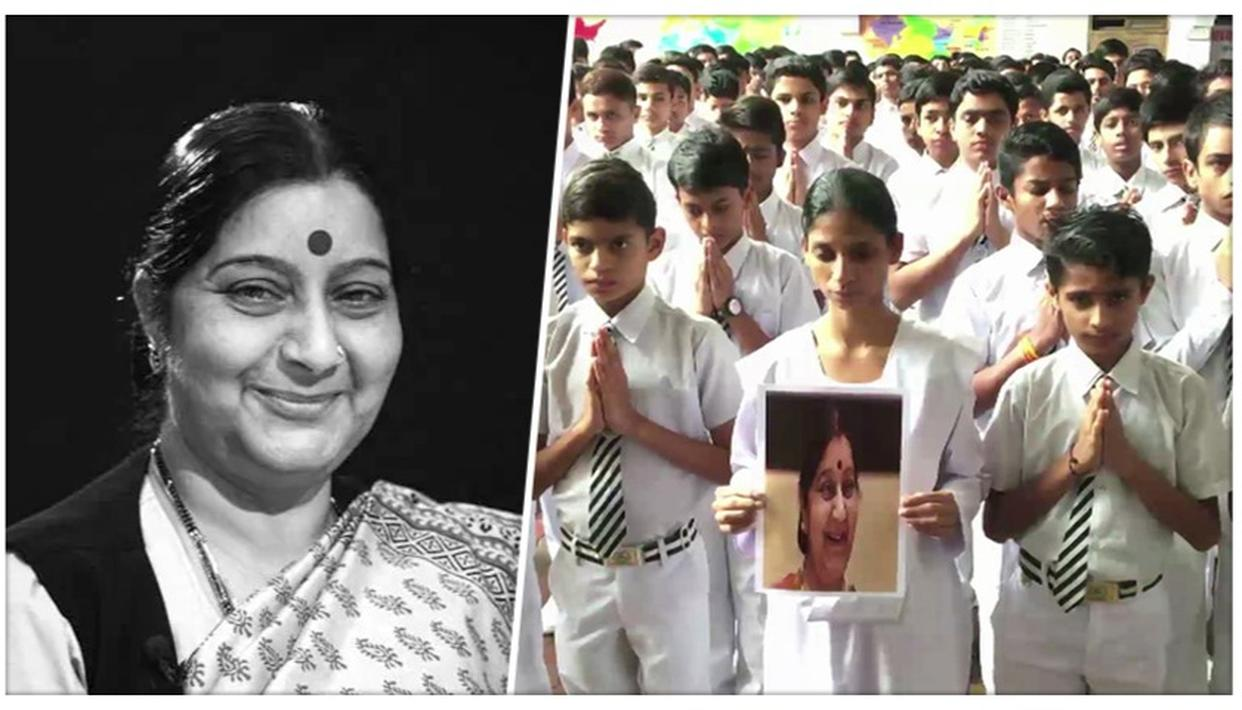 SUSHMA SWARAJ PASSES AWAY: GEETA WHO WAS BROUGHT BACK FROM PAKISTAN IN 2015 PAYS HER TRIBUTE