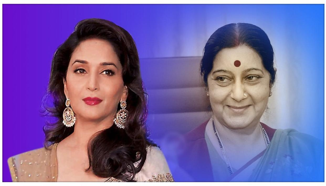 SUSHMA SWARAJ PASSES AWAY: MADHURI DIXIT PAYS 'IRON LADY' A RICH TRIBUTE, CALLS HER EXTRAORDINARY