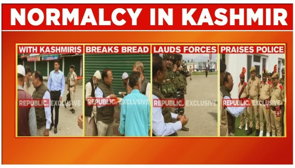 ACCESSED: EXCLUSIVE VISUALS SHOWING ON-GROUND SITUATION IN J&K, NSA AJIT DOVAL INTERACTS WITH SHOPIAN RESIDENTS