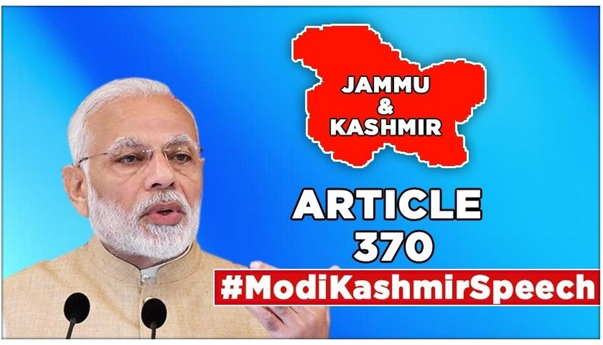 PM MODI ON J&K: 'PEOPLE OF JAMMU AND KASHMIR WERE DEPRIVED OF LAWS WHICH BENEFITED EVERYONE ELSE, THIS WILL CHANGE' AFTER ARTICLE 370'S ABROGATION