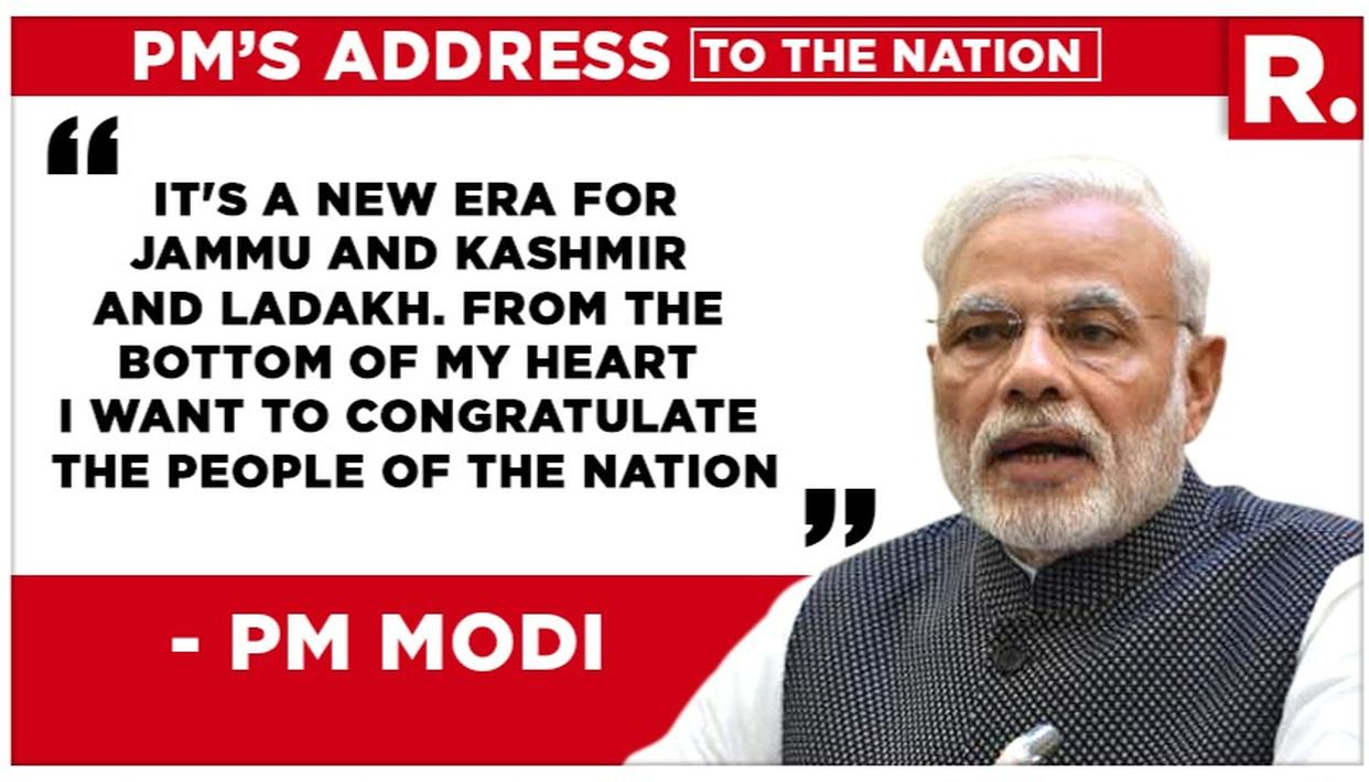 PM MODI'S J&K SPEECH: HERE ARE THE MOST IMPORTANT THINGS THE PRIME MINISTER SAYS ABOUT ARTICLE 370'S ABROGATION