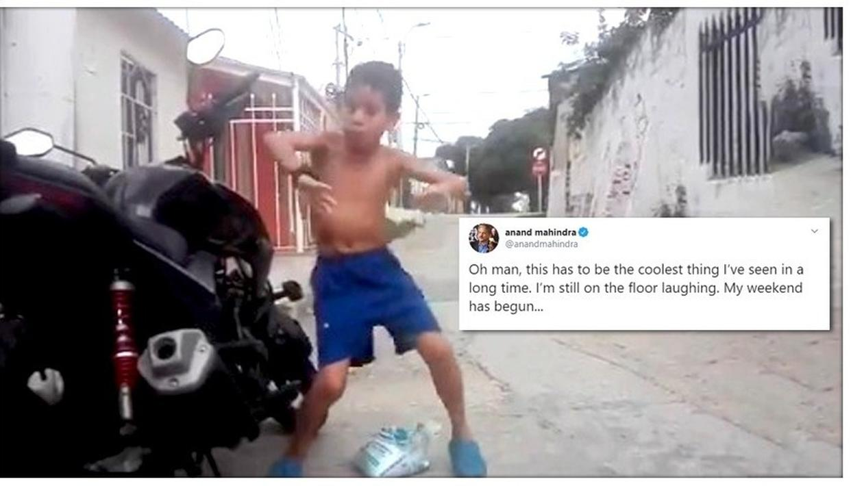 ANAND MAHINDRA CAN'T STOP LAUGHING AT THIS VIDEO OF BOY DANCING TO ANTI-THEFT ALARM, WATCH IT HERE