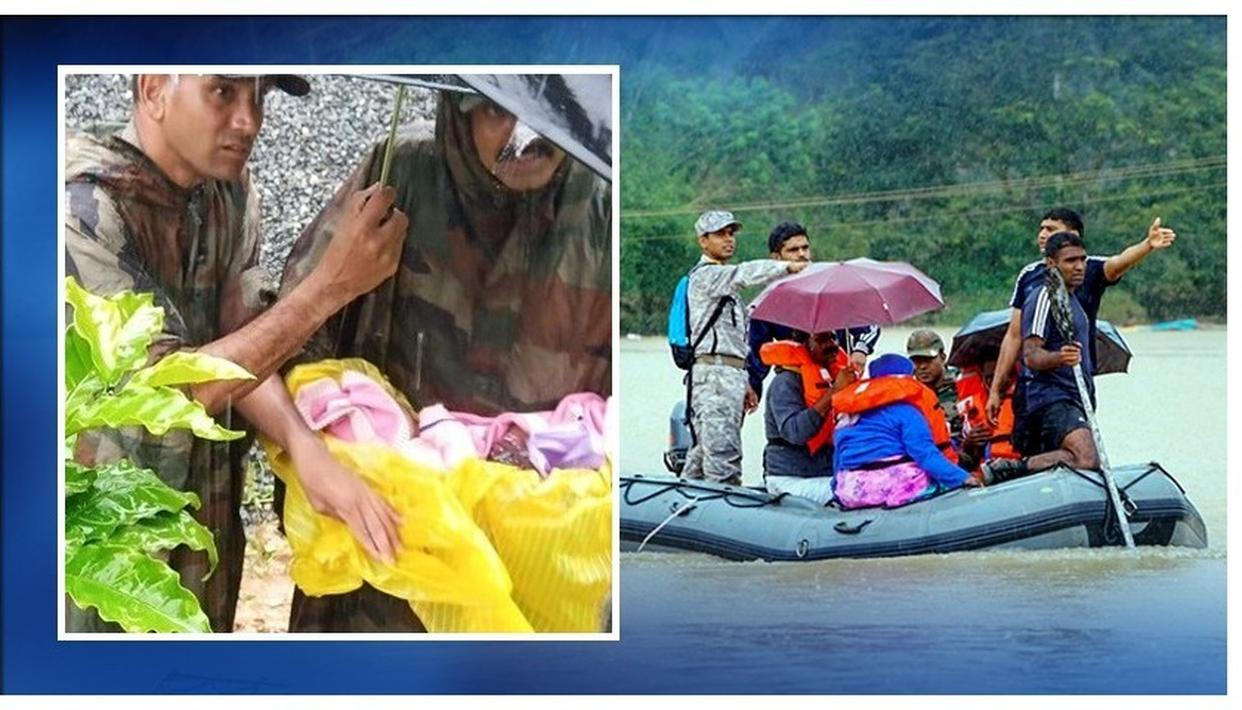 KERALA FLOODS: ARMY RESCUES NEW-BORN BABY AMID HEAVY RAINS IN WAYANAD
