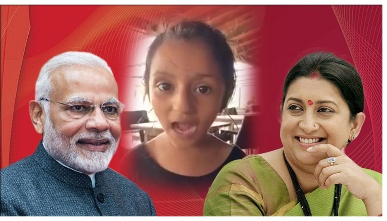 UNION MINISTER SMRITI IRANI SHARES LITTLE GIRL'S SPECIAL MESSAGE FOR 'MODI DADA', WATCH HERE