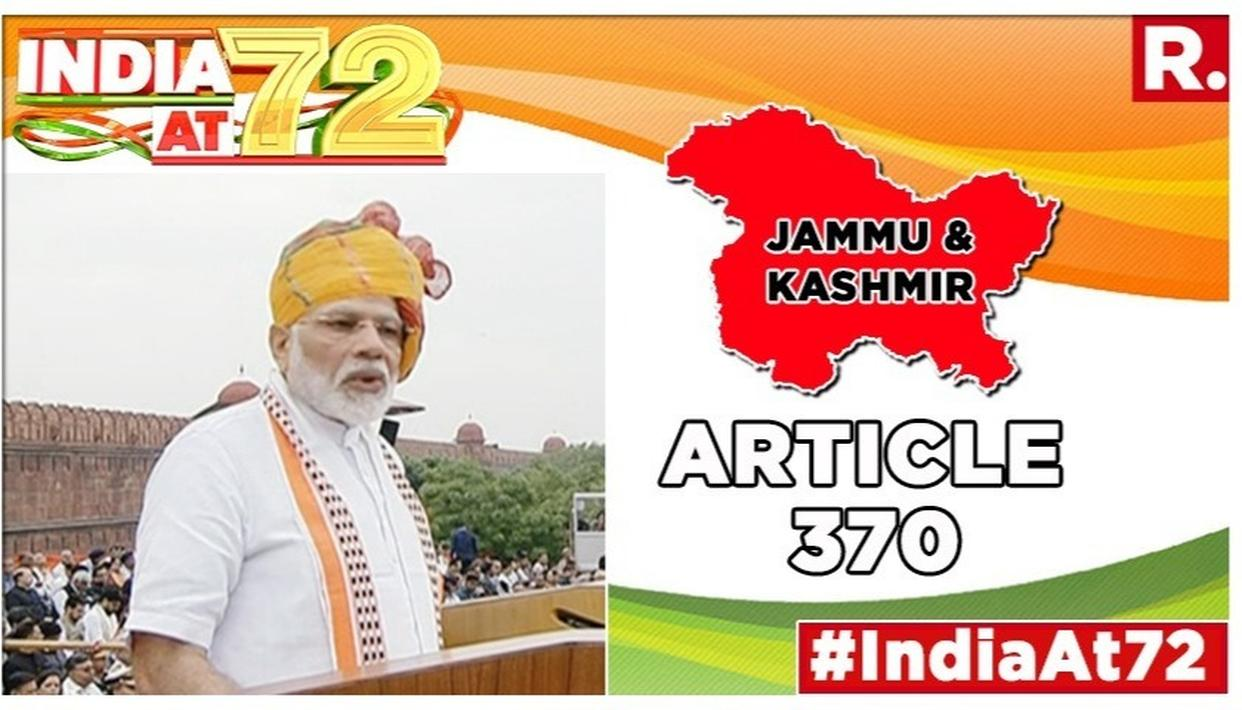 PM MODI'S INDEPENDENCE DAY SPEECH: 'WHY KEEP J&K'S ARTICLE 370 AS TEMPORARY PROVISION IF IT WAS OF VALUE?,' PM ASKS OPPONENTS