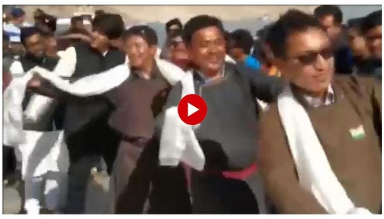 INDEPENDENCE DAY IN LEH: LADAKH MP JAMYANG TSERING NAMGYAL'S JOYOUS CELEBRATORY DANCE WILL WARM YOUR SOUL